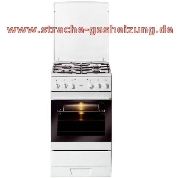 Amica gas elektroherd 4 fl sheg 11557 w 50cm weiss for Amica elektroherd